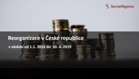 Reorganizácie v ČR 2016 - 2019